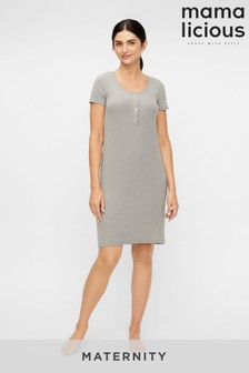 Mamalicious Grey Maternity And Nursing Function Night Dress