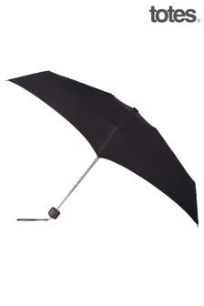 Totes Black Mini Manual X-Tra Strong Umbrella