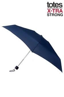 Totes Navy Mini Manual X-Tra Strong Umbrella