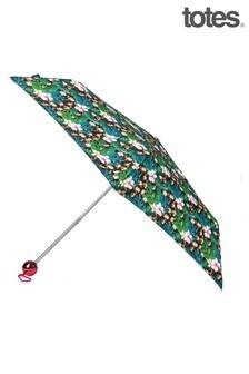 Totes Teal Supermini Print Umbrella