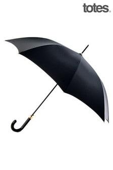 Totes Black Automatic Walking Umbrella