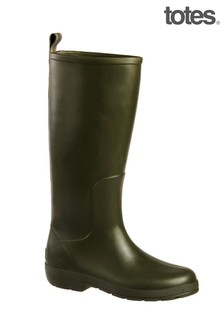 Totes Green Womens Claire Tall Rain Boot