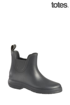 Totes Grey Womens Chelsea Ankle Wellie Boot