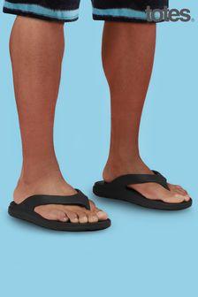 Totes Black Bounce Men's Toe Post Sandal