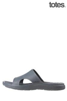 Totes Grey Bounce Men's Side Vent Sandal