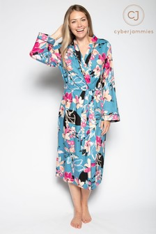 Cyberjammies Turquoise Knitted Dressing Gown Robe