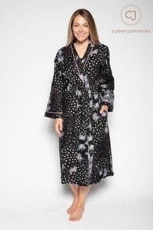 Cyberjammies Black Knitted Dressing Gown Robe