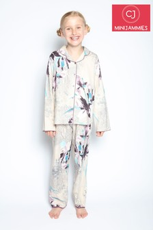 Cyberjammies Animal and Floral Print Gabriella Fully Knitted Longsleeve Revere Set