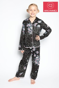 Cyberjammies Black Long Sleeve PJ Set