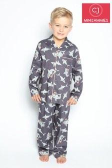 Cyberjammies Blue Shark Thomas Longsleeve Shark Printed Pyjama Set
