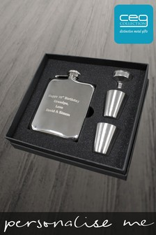 Personalised Luxury Hip Flask Set by CEG Collection