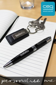 Personalised Luxury Pen & Keyring Combo Gift Set by CEG Collection