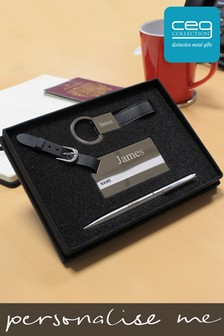 Personalised Pen & Keyring & Luggage Tag Super Combo Gift Set by CEG Collection
