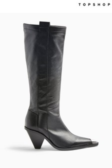 Tulip Point Knee High Western Boot