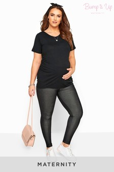 Bump It Up Black Maternity Jeggings With Comfort Panel