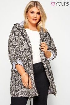 Yours Curve Animal Print Pocket Parka Jacket