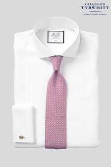Charles Tyrwhitt White Twill Cutaway Extra Slim Fit Double Cuff Shirt