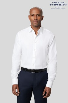 Charles Tyrwhitt White Twill Slim Fit Single Cuff Shirt