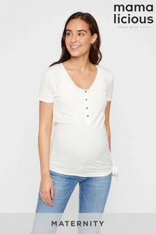 Mamalicious Maternity Nursing Top With Tie Side