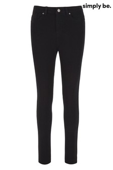 Simply Be Black Sophia Fly Front Jegging