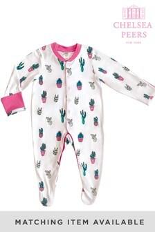 Chelsea Peers White Cactus Print NYC Baby Cactus Eco Pj Set