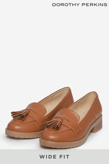 Dorothy Perkins Brown Wide Fit Litty Loafer