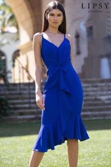 Lipsy Cobalt Twist Midi Dress