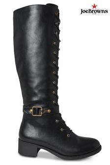 Joe Browns Black Twice As Nice Lace Up Boots