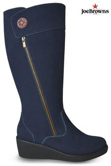 Joe Browns Navy Up Town Button Trim Boots