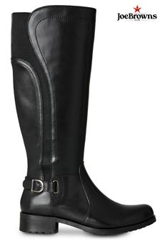 Joe Browns Black Country Walk Leather Riding Boots
