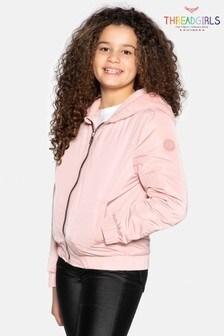 Threadgirls Pink Bomber Jacket With Fur