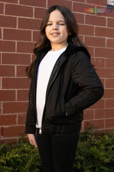 Threadgirls Black Bomber Jacket With Fur