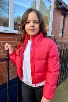 Threadgirls Pink Puffer Jacket