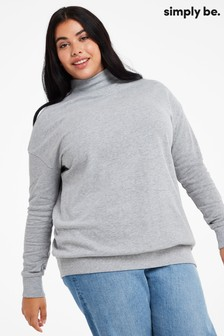 Simply Be Grey High Neck Sweat Tunic