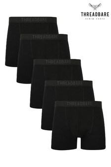 Threadbare Black 5 Pack  Trunks