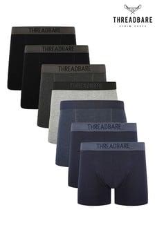 Threadbare Black 7 Pack Trunks