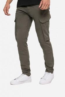Threadbare Khaki Zen Cargo Trousers