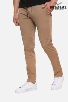 Threadbare Beige Carden Casual Trousers