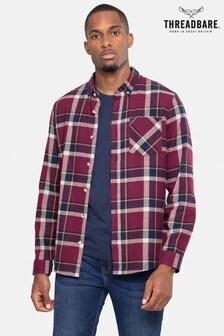 Threadbare  Check  Cotton Long Sleeve Shirt