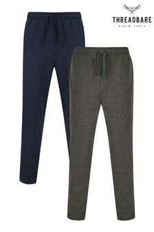 Threadbare Black 2 Pack Cotton Pyjama Trousers