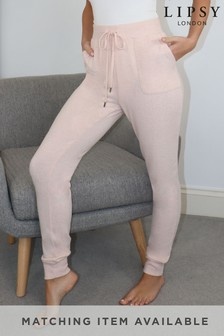 Lipsy Pink Lounge Cosy Slim Jogger