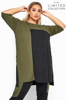 Yours Black Limited Collection Colour Block Lounge Top
