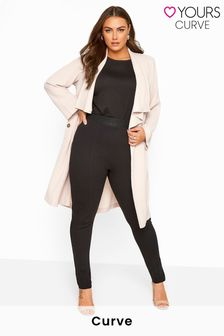 Yours Black Curve Ponte Stretch Trousers