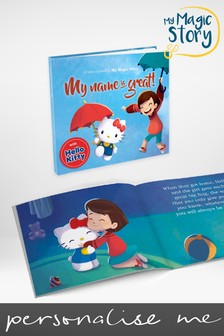 Personalised Hard Back Hello Kitty Book by Story Tailors