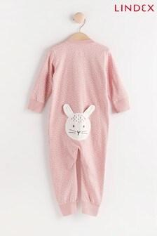Lindex Pink Zip Sleepsuit (Baby)