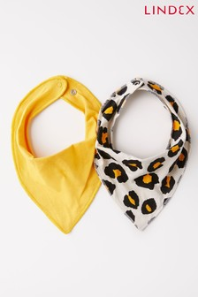 Lindex Leopard Yellow Baby 2 Pack Scarves