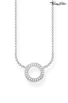 Thomas Sabo Silver Sparkling Circle Necklace