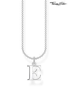 Thomas Sabo Silver Letter 'E' Pendant And Chain