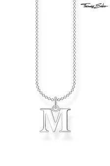 Thomas Sabo Silver Letter 'M' Pendant And Chain