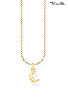 Thomas Sabo Gold Moon Pendant And Chain Necklace